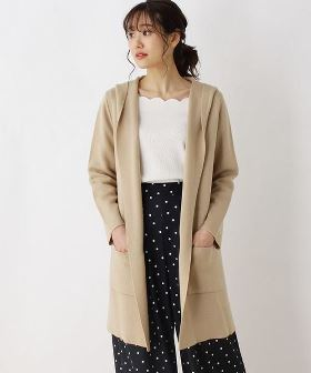 【Unfilo】【洗える・ツインセット】Long Cardigan+Sleeveless Top KRURLM0764